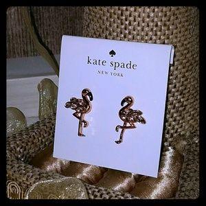 Kate spade flamingo earrings